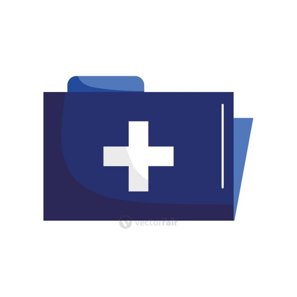 file with cross flat style icon vector design