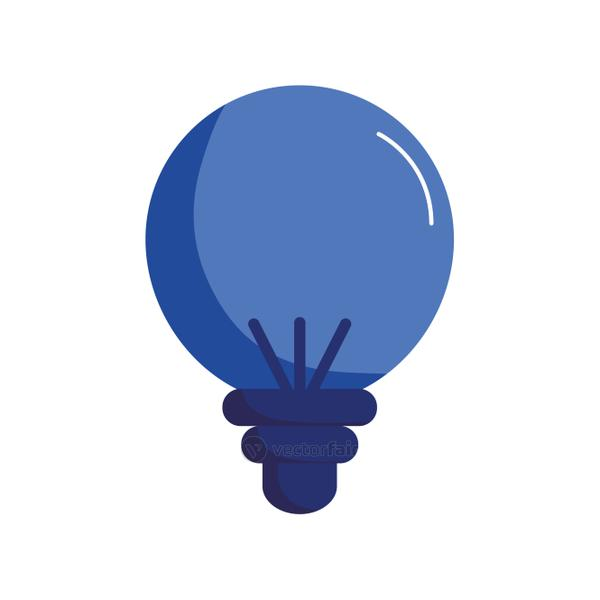 Isolated light bulb flat style icon vector design
