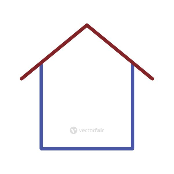 Isolated line house vector design