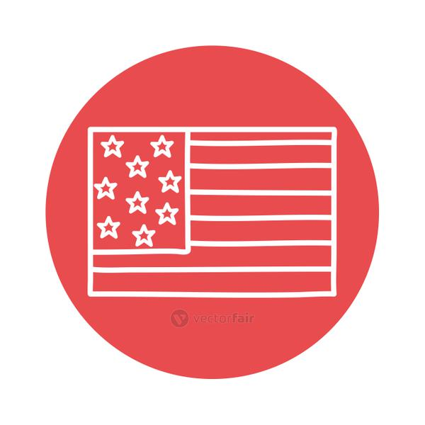 Usa flag block style icon vector design