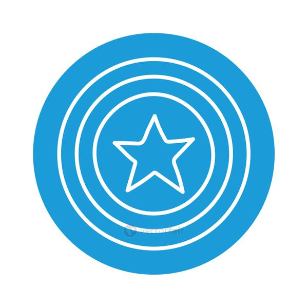 Seal stamp with star block style iconvector design