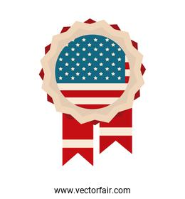 happy independence day, medal memorial american flag flat style icon