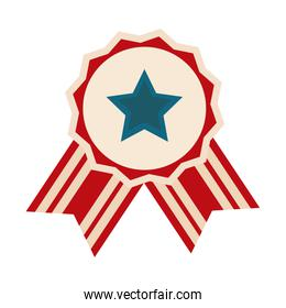 happy independence day, american flag label celebration flat style icon
