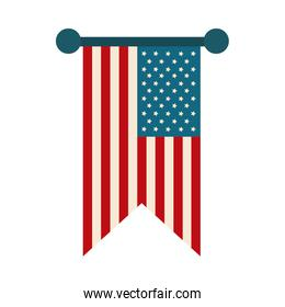 happy independence day, pendant american flag decoration flat style icon