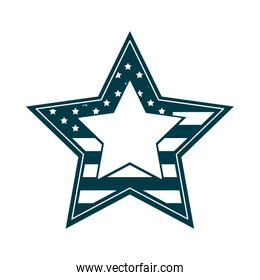 happy independence day, american flag shaped star patriotic silhouette style icon