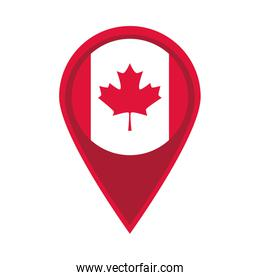 canada day, canadian flag in navigation pin flat style icon