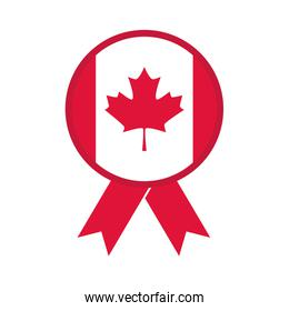 canada day, canadian flag maple leaf clothespin flat style icon