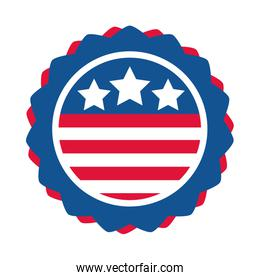 4th of july independence day, american flag emblem national design flat style icon