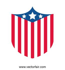 4th of july independence day, american flag national patriotic label flat style icon
