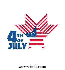 4th of july independence day, american flag star country celebration flat style icon