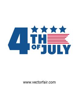 4th of july independence day, american honor memorail celebration flat style icon