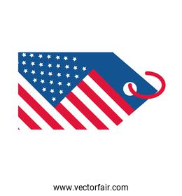 4th of july independence day, american flag tag event flat style icon
