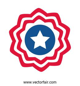 4th of july independence day, american flag decoration badge flat style icon