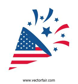 4th of july independence day, fireworks american flag cleebration party national flat style icon