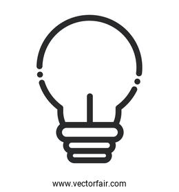light bulb laboratory science and research line style icon