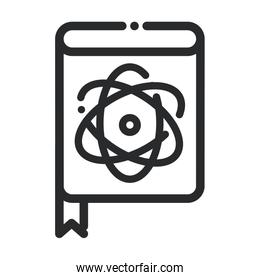 medical book literature laboratory science and research line style icon