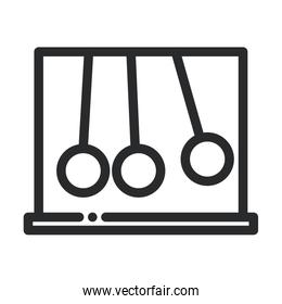 newtons cradle silver balls science and research line style icon