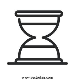 sand clock time laboratory science and research line style icon