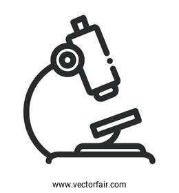 microscope equipment laboratory science and research line style icon