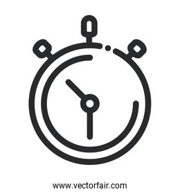 chronometer time speed science and research line style icon