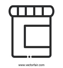 container plastic medical laboratory science and research line style icon