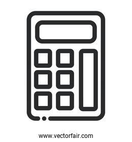 calculator financial math science and research line style icon