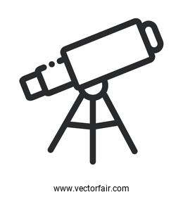 telescope astronomy science and research line style icon