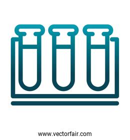 test tube in rack chemical laboratory science and research gradient style icon