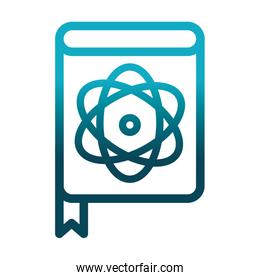 medical book literature laboratory science and research gradient style icon