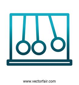 newtons cradle silver balls science and research gradient style icon
