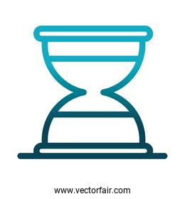 sand clock time laboratory science and research gradient style icon