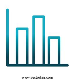 statistics report diagram science and research gradient style icon