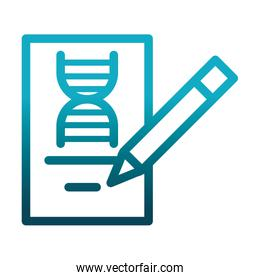genetic pencil study laboratory science and research gradient style icon