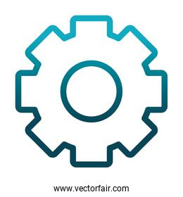 gear cogwheel laboratory science and research gradient style icon