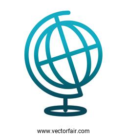 school globe map science and research gradient style icon