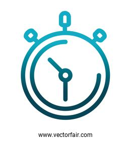 chronometer time speed science and research gradient style icon