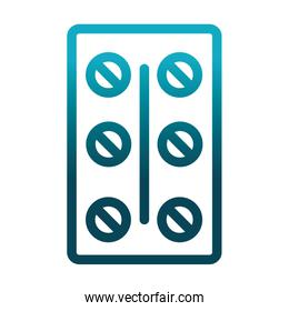 medication packaging pills laboratory science and research gradient style icon