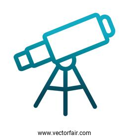 telescope astronomy science and research gradient style icon