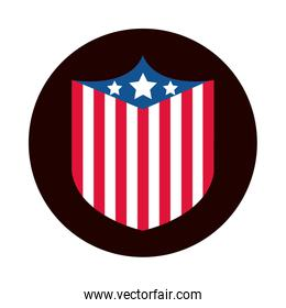 4th of july independence day, american flag national patriotic label block and flat style icon
