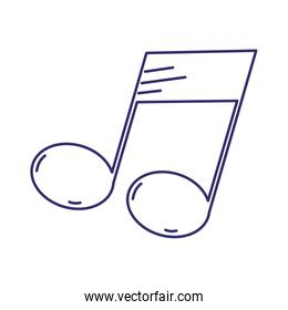note music harmony melody design isolated icon