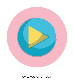 video player button music design isolated icon