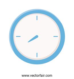 round clock time isolated icon design