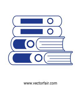 books stack learn literature isolated design
