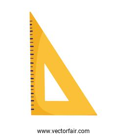 school triangle ruler measure isolated icon design