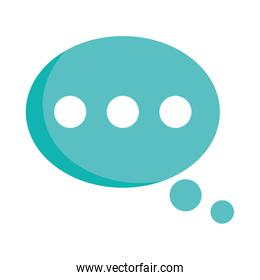 speech bubble message chat isolated icon design