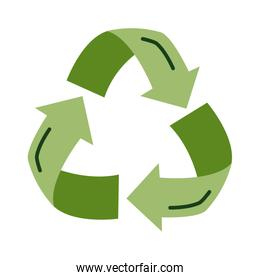 recycle arrows flat style icon