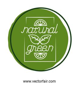 organic green nature lettering block style icon
