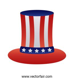 usa hat with flag degraded style