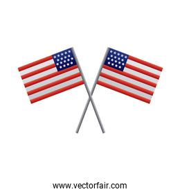 usa flags degraded style icon