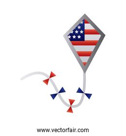 kite with usa flag degraded style